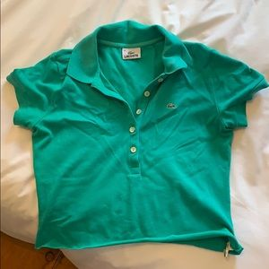 Lacoste cropped shirt